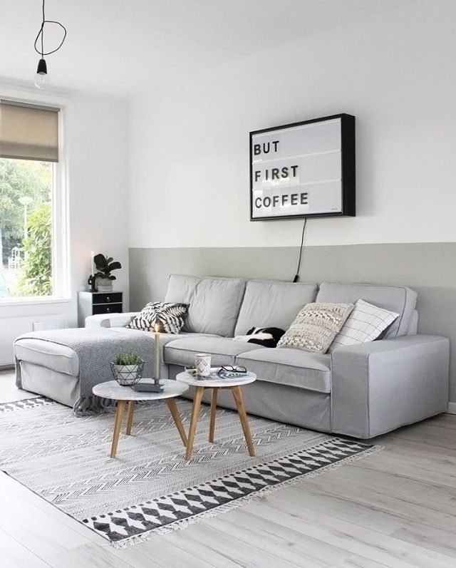 A White And Grey Living Room   Is To Me