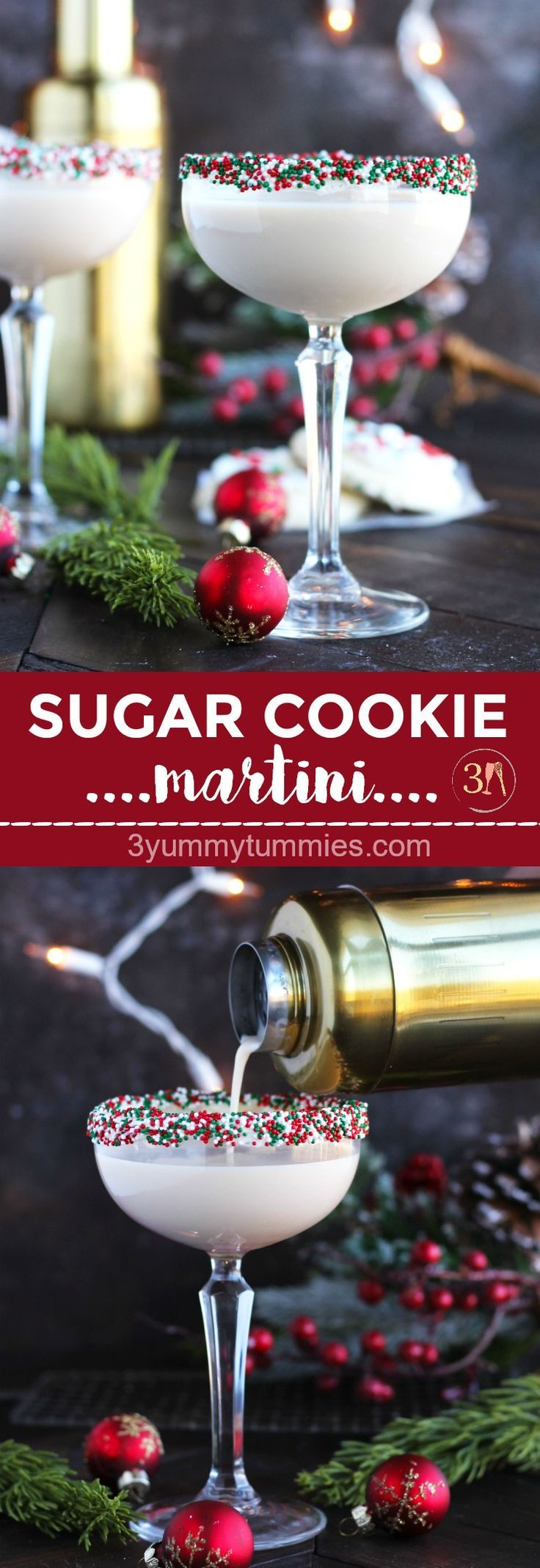 Photo of This festive, Sugar Cookie Martini is perfect for holiday entertaining with Bail…