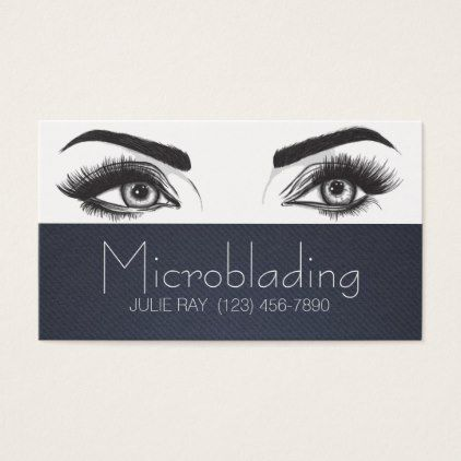Microblading eyebrows tattoo permanent makeup business card microblading eyebrows tattoo permanent makeup business card makeup artist gifts style stylish unique custom stylist reheart Image collections
