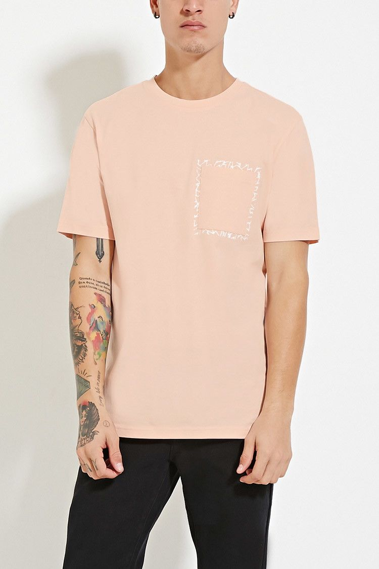 Abstract Graphic Pocket Tee Forever 21 Graphic T Shirt Graphic