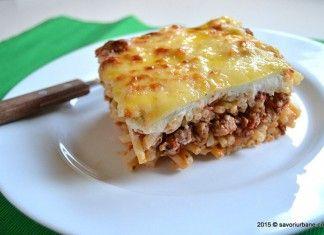 Macaroane cu carne la cuptor – Pastitsio