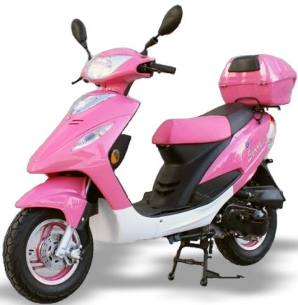 50cc Pink Panther Maui Moped Only 6 Left With Images Pink