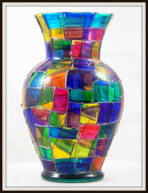 Vase Glass Painting Ideas 615x804g 615804 Glass Painting