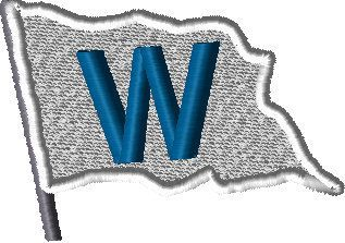 graphic about Printable Cubs W Flag referred to as Chicago Cubs Successful (W) Flag Embroidery Structure, Quick
