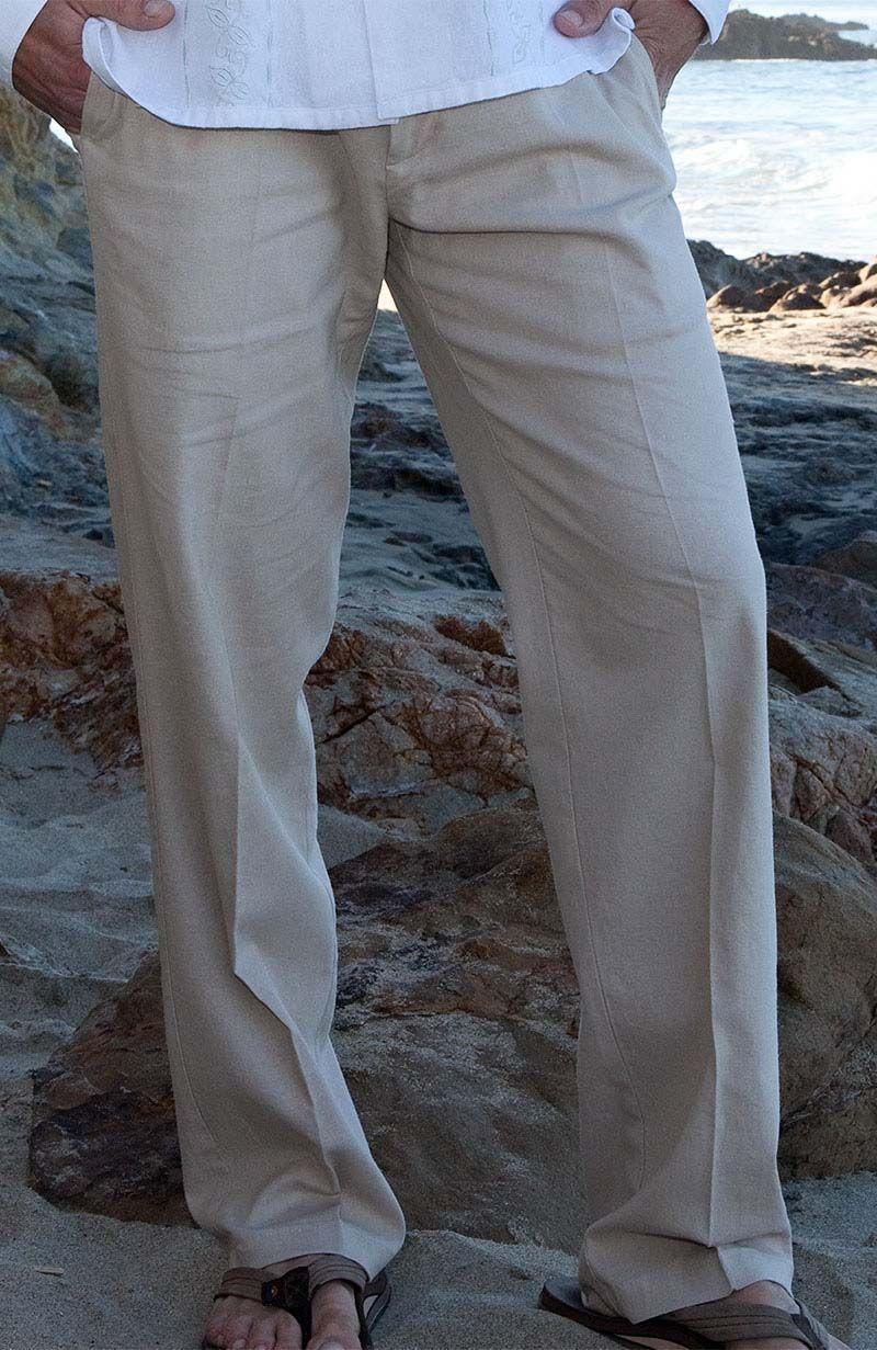 Verona Formal Style Italian Linen Designer Pants Mens