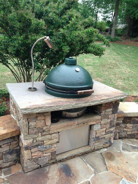 Large Kitchens Augusta Ga Big Green Egg Outdoor Kitchen Patio Design Large Backyard