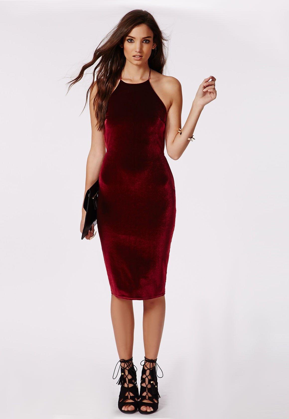 Velvet bodycon dress tumblr color