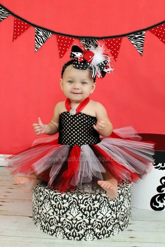 c2e1151314cb Girls Red and Black Baby Tutu Dress