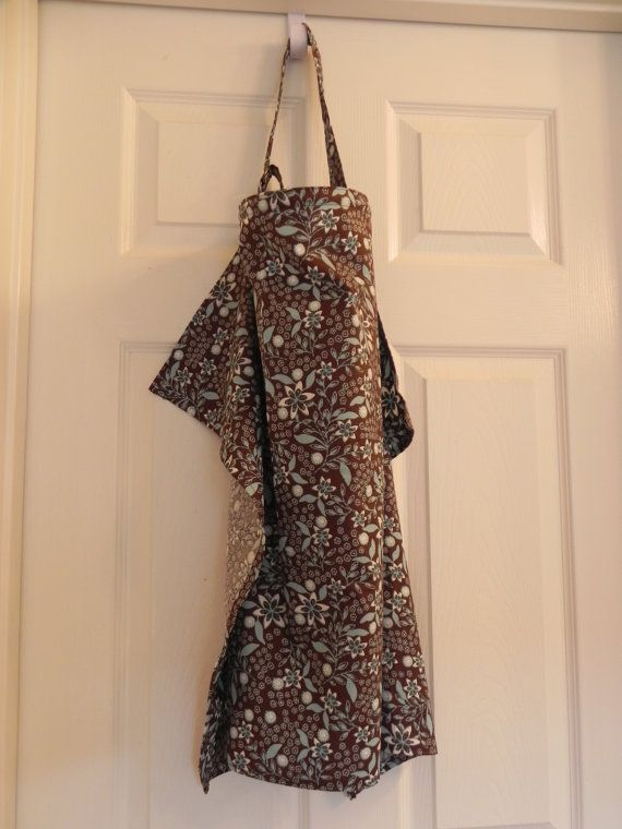 Brown and Blue flower print nursing cover by CrazyPresCreations, $10.00