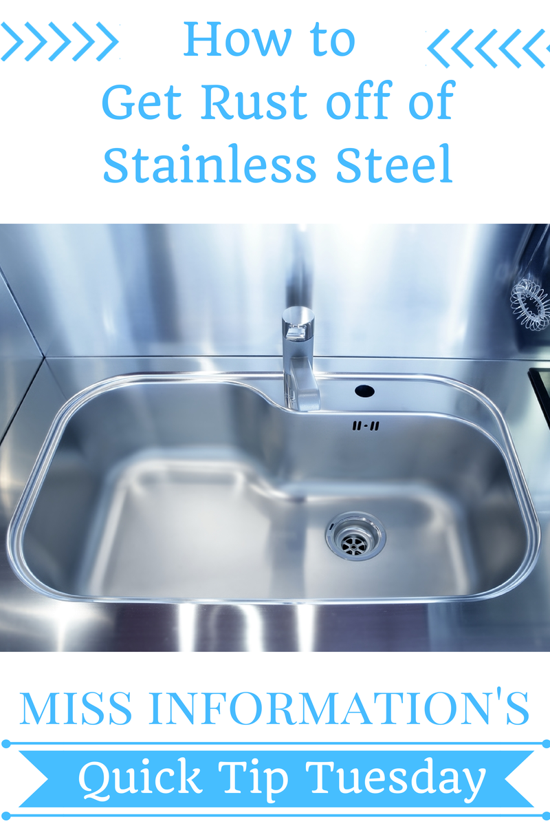 How To Remove Rust Stains From Stainless Steel House Cleaning Tips Cleaning Hacks How To Remove Rust
