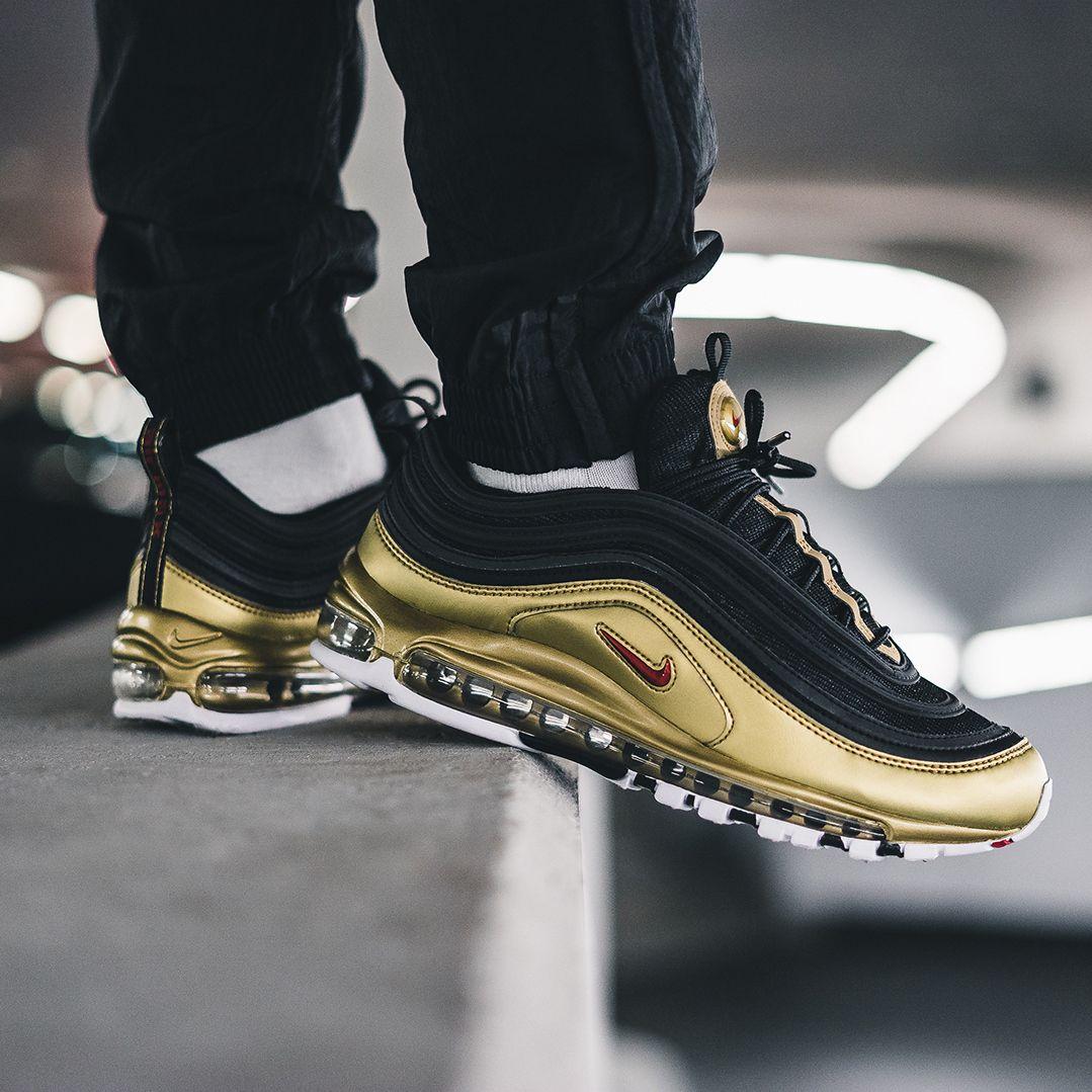 Nike Air Max 97 - Gold and Black - | Sneakers nike, Mens nike ...