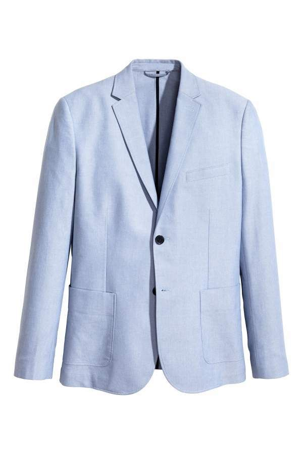 H&M Chambray jacket Slim fit Discounts Sale Online Clearance Low Shipping Outlet Shopping Online Discount Buy xDc3L