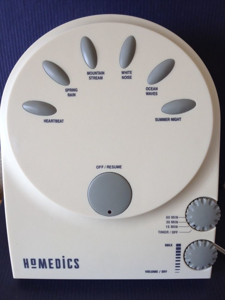 Homedics Sound Therapy Spa Machine White Noise Sleep Aid Heartbeat for Baby