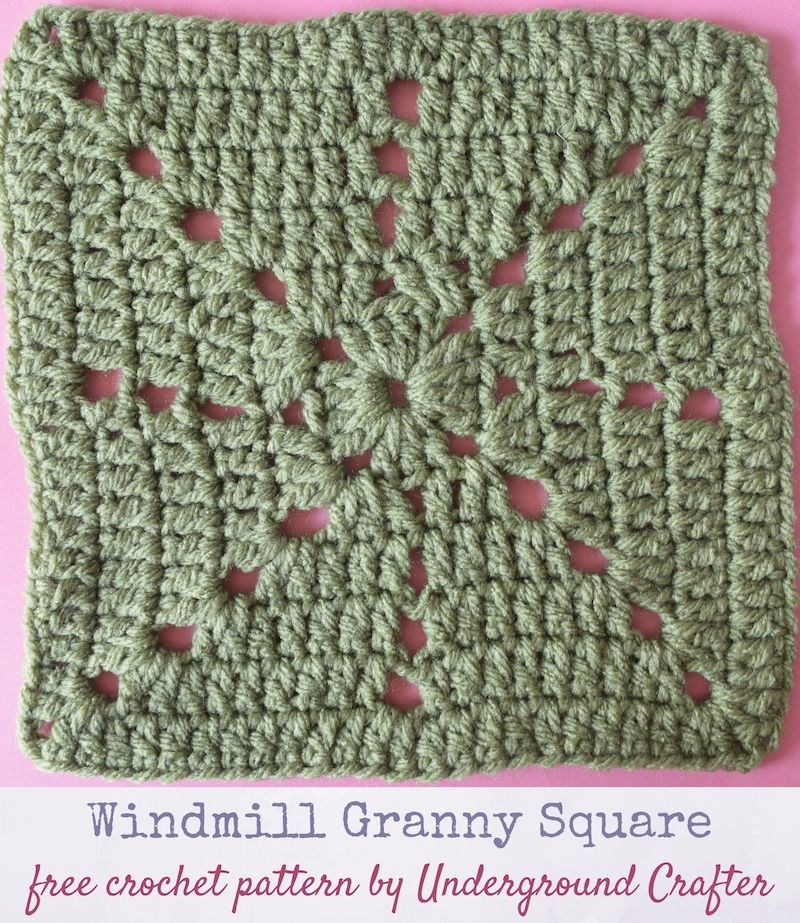 Crochet pattern: Windmill Granny Square in Red Heart With Love yarn ...