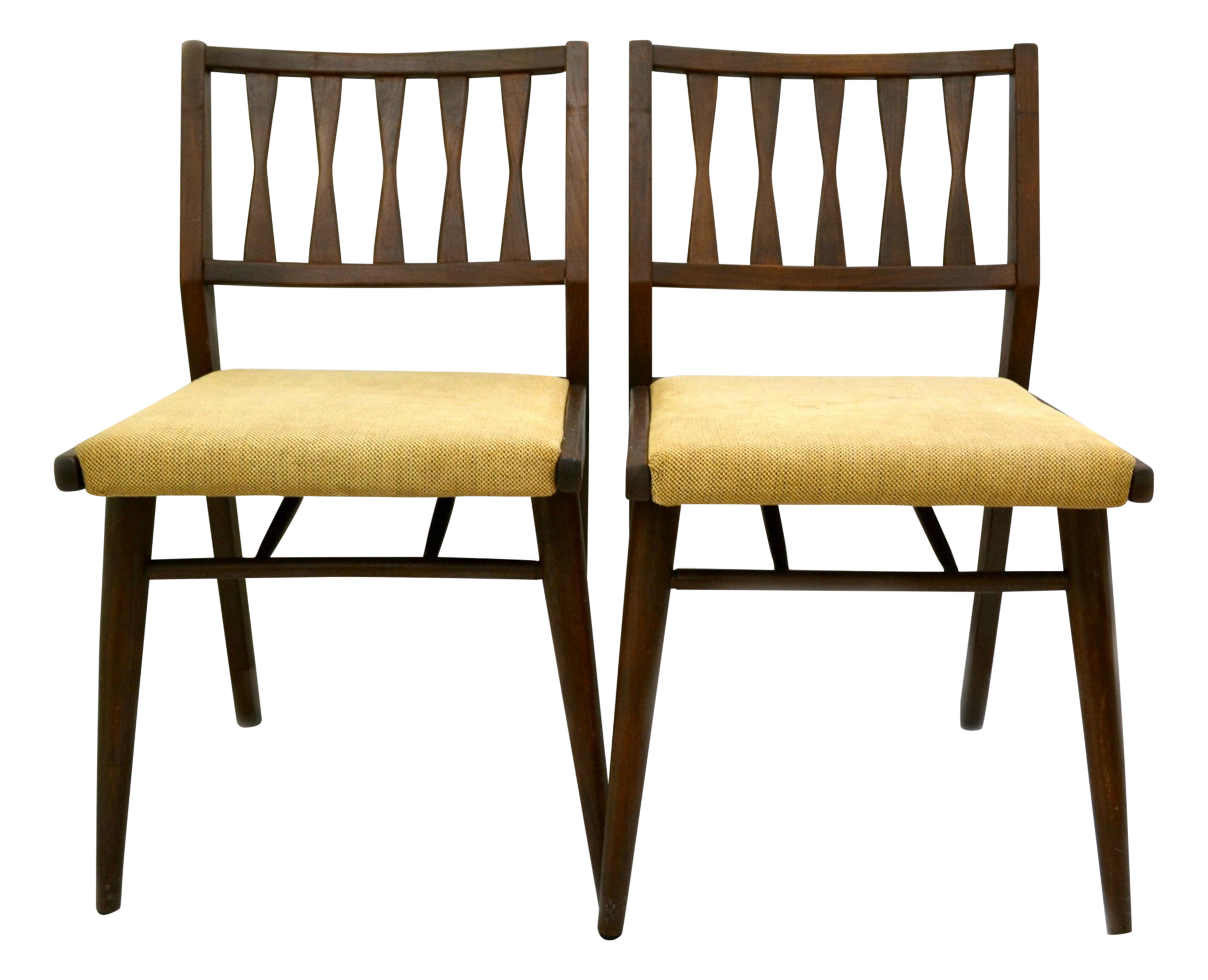 Mid Century Modern Dining Room Chairs holman danish modern dining room chairs - pair | danish modern