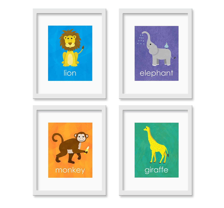 Jungle Safari - Set of Four 8x10 Art Prints