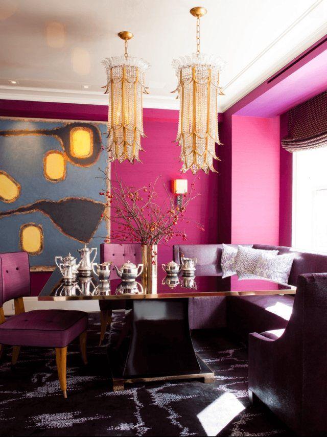 Magenta Ideen Für Farbgestaltung Am Essplatz Eklektische Dekoration