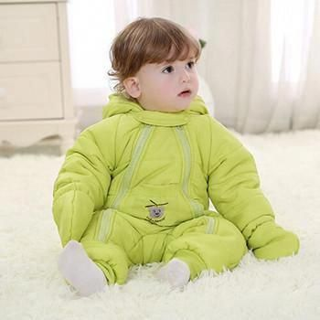 2b7a37c63bf5 Winter baby rompers infant Down hot boy girl thicken jumpsuits ...