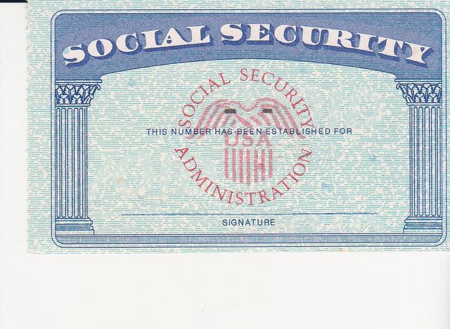 Social Security Card Ssc Blank Color  Social Security And Cruises