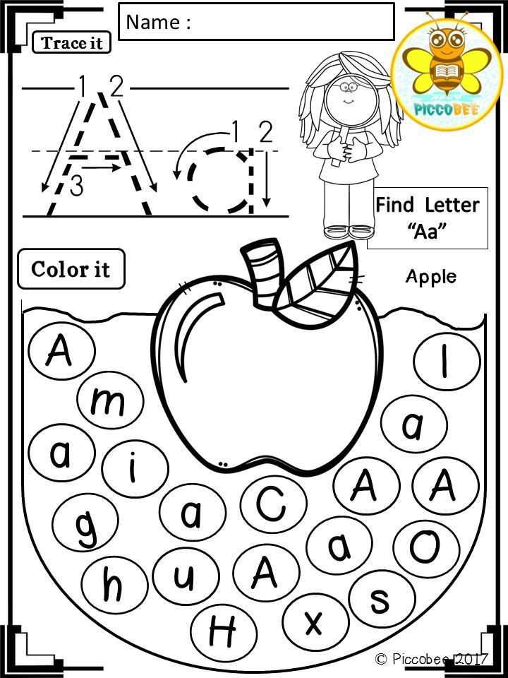 Alphabet Worksheets - Fruits and Animals