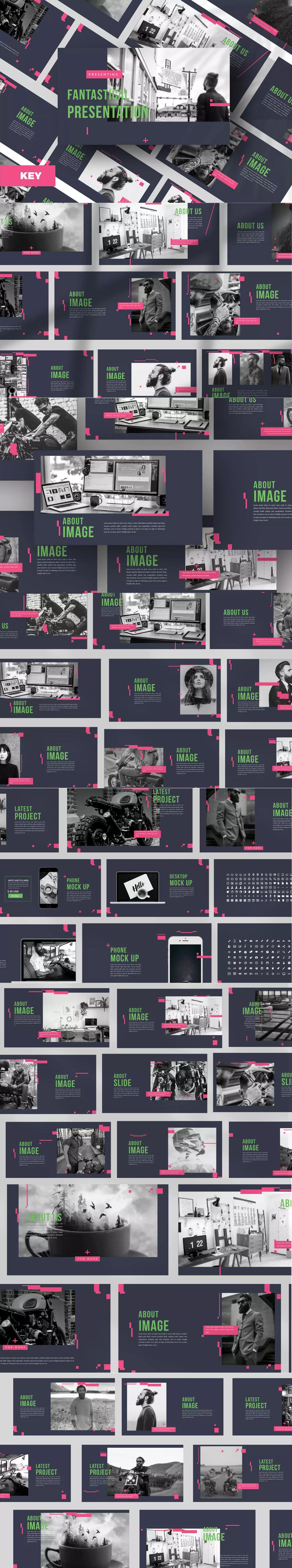 fantastical keynote presentation template 50 unique slide