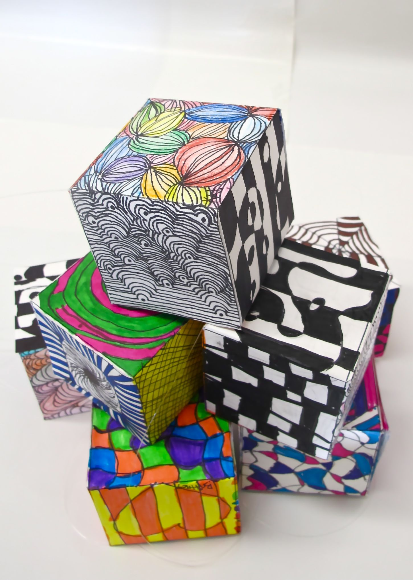 Op Art Cubes With Images