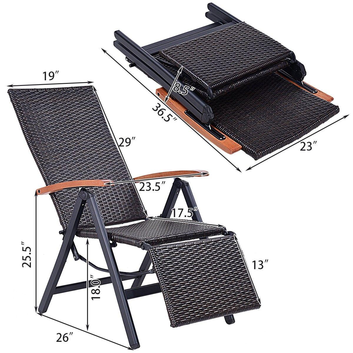 Garden Folding Rattan Aluminum Recliner Chair In 2019
