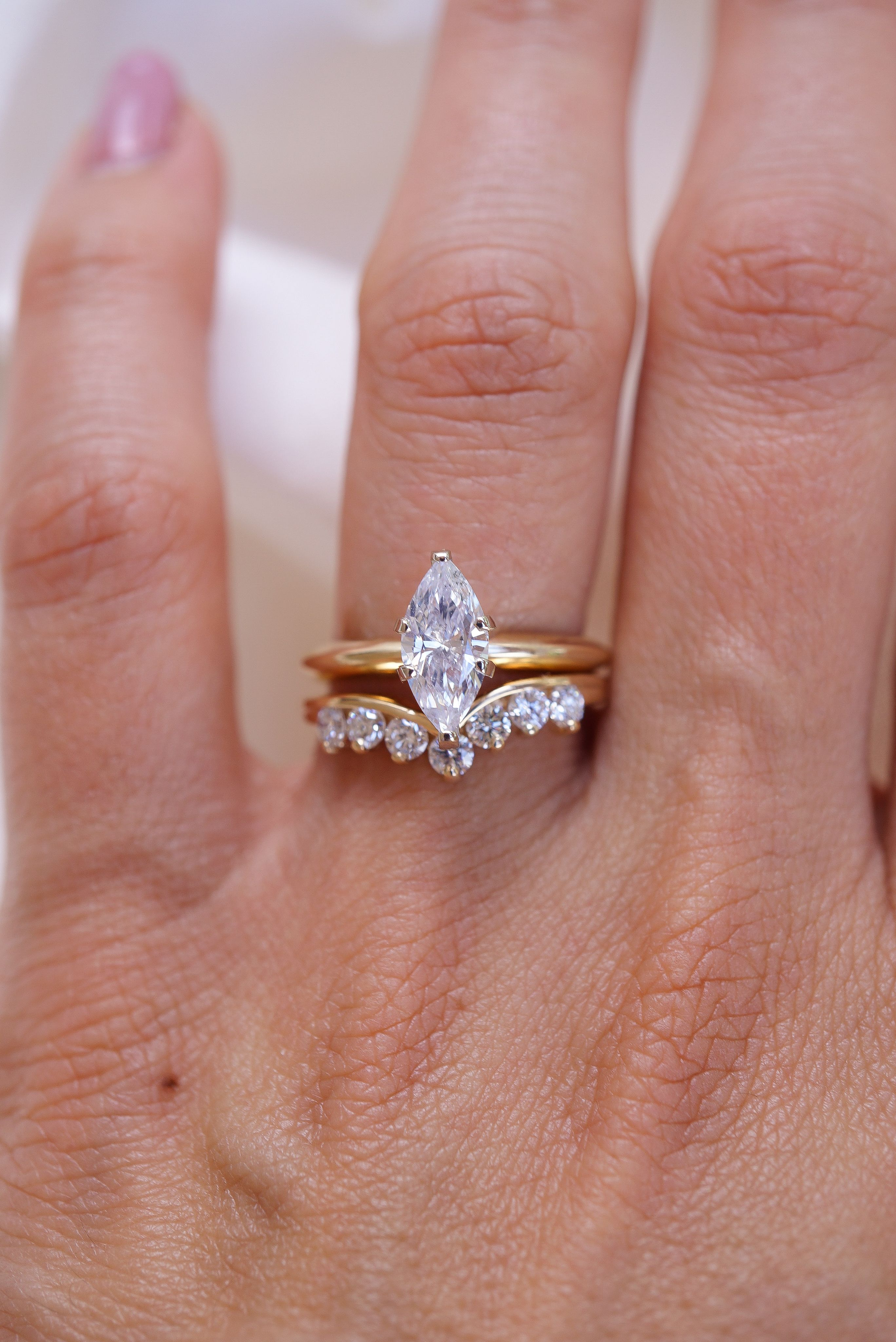Marquise Diamond Solitaire Ring In 14k Yellow Gold Dainty Marquise Diamond Ring Solitaire Diamond Ring Minimalist Engagement Ring Minimalist Engagement Ring Vintage Engagement Rings Marquise Diamond Solitaire Ring