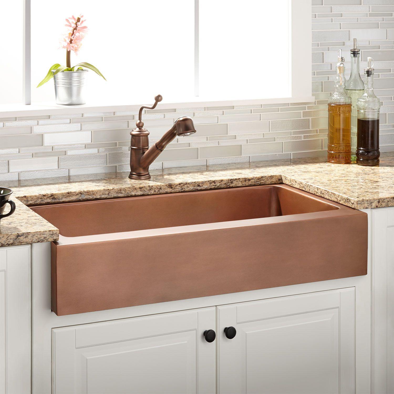 33 raina copper retrofit farmhouse sink copper