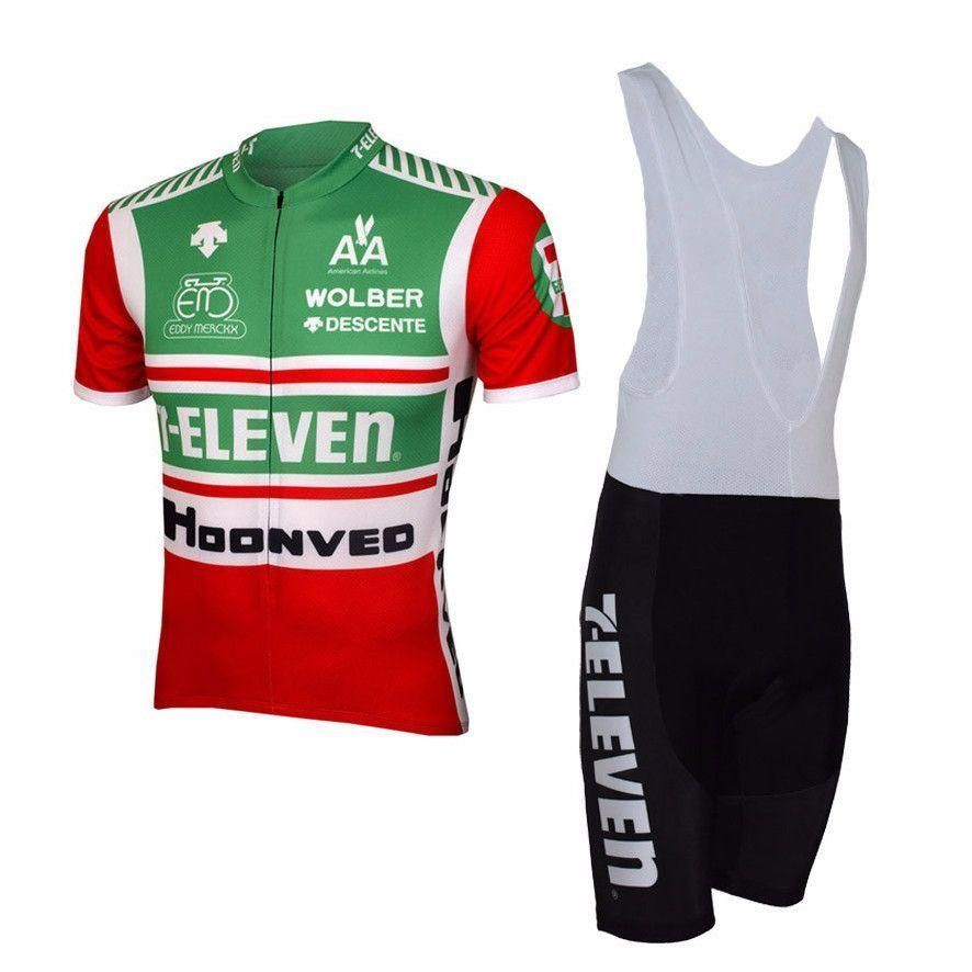 552575add 2017 7-Eleven Retro Men Short Sleeve Cycling Set Clothing Breathable Bike  Jerseys Clothes Maillot