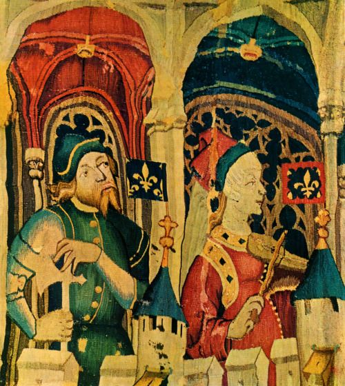 nataliakoptseva 1385 atelier de nicolas bataille les neuf preux d tail tapisserie medieval. Black Bedroom Furniture Sets. Home Design Ideas