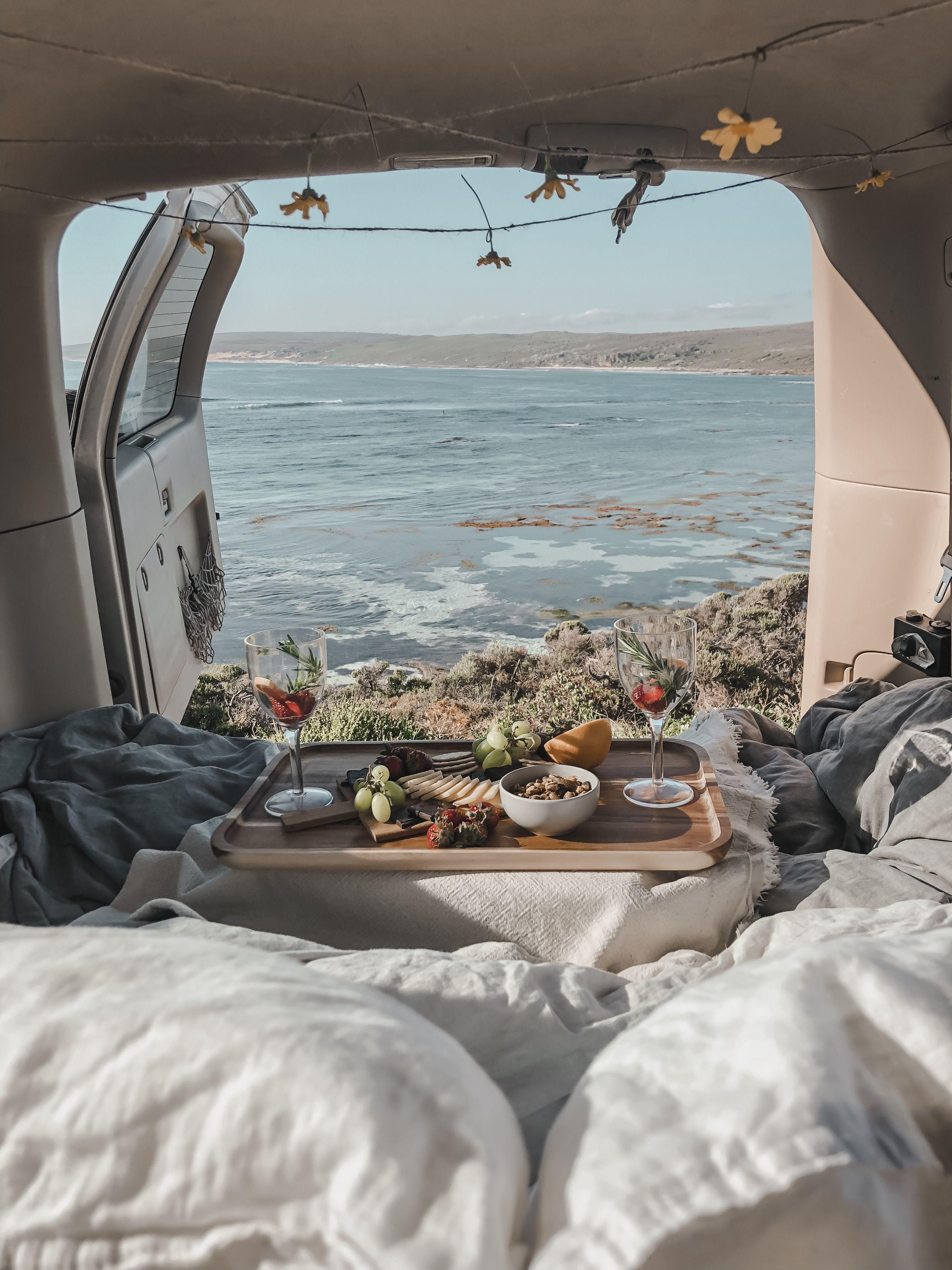 Dreamy back of car date in margaret river western