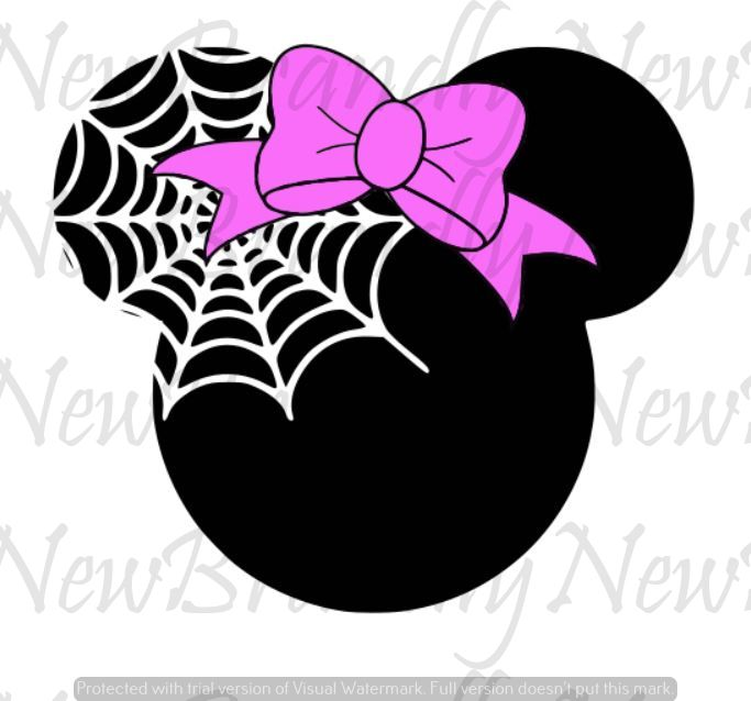 Minnie Mouse Spider Web Design / SVG - PNG - JPEG Download