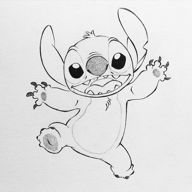 Image Result For Cute Sketches Of Stitch As Elvis Stitch Drawing Disney Drawings Sketches Disney Character Drawings