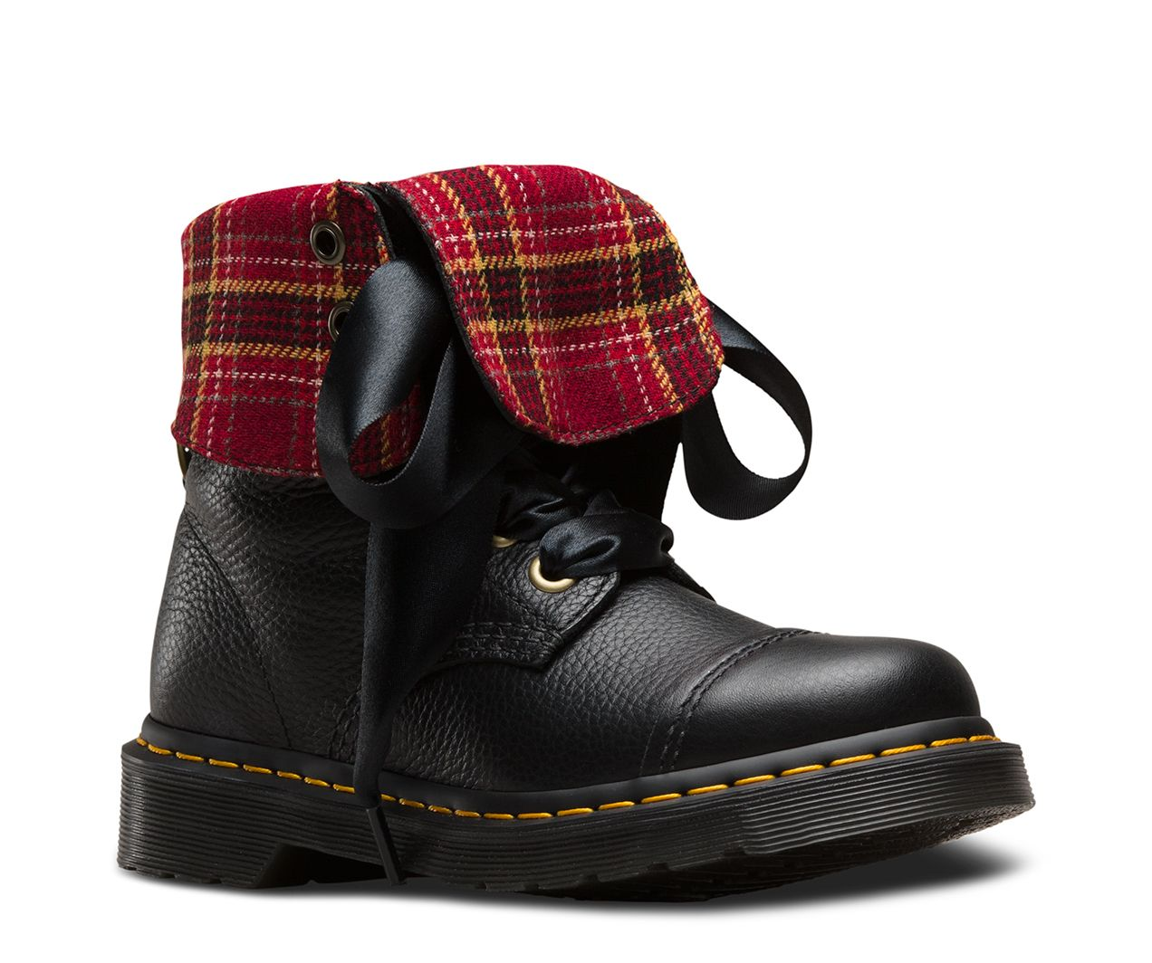 DR MARTENS AIMILITA LEATHER HIGH BOOTS