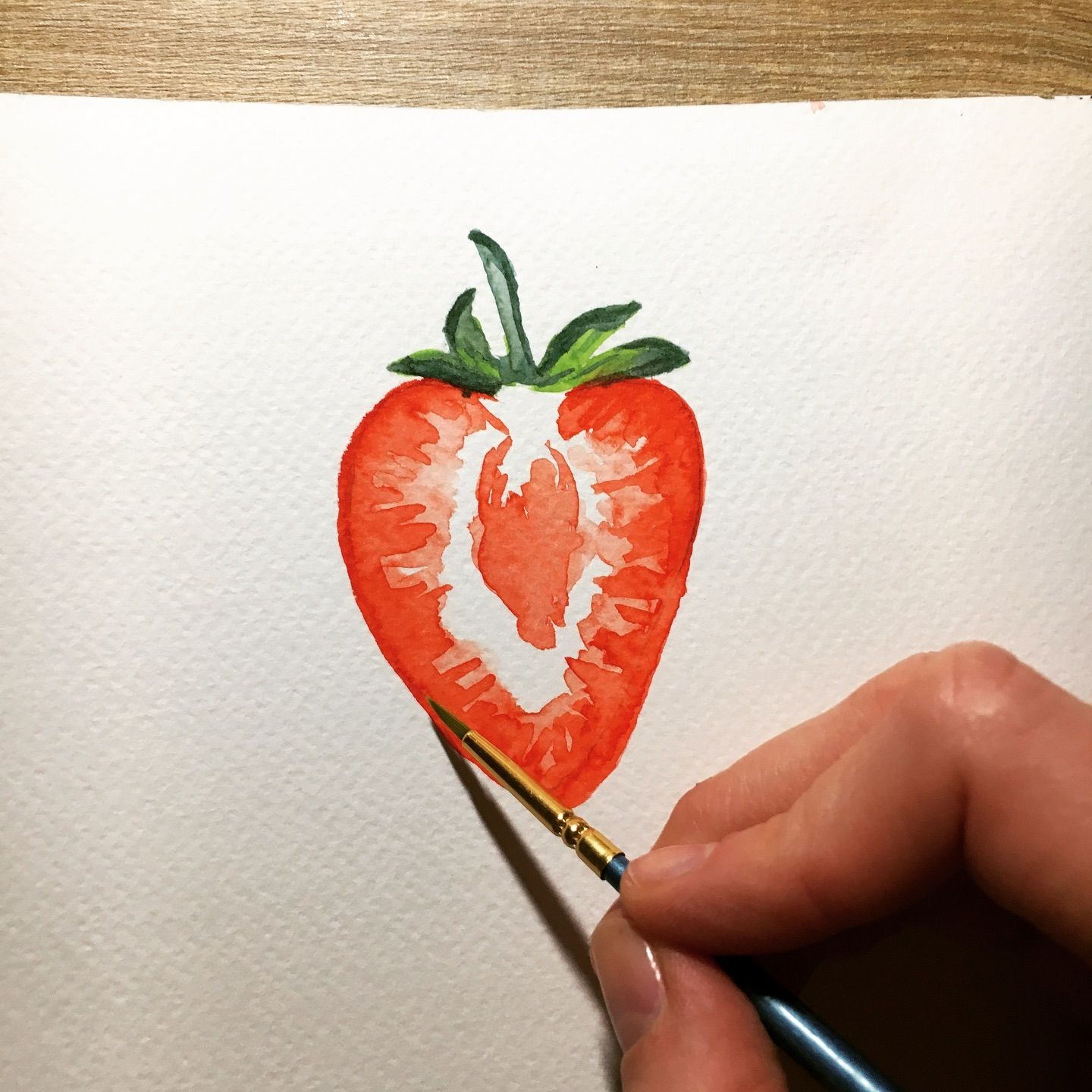 Just tried the strawberry 🍓 tutorial from @dearannart ! Never tried a tutorial before, this was fun! Thanks so much! . . . #tutorial #strawberry #dearannart #try #spring #madewithlove #watercolour #watercolor #aquarellepainting #painting #artwork #artist #watercolorpainting #watercolorpractice #watercolortutorial #watercolor_art #watercolor_daily