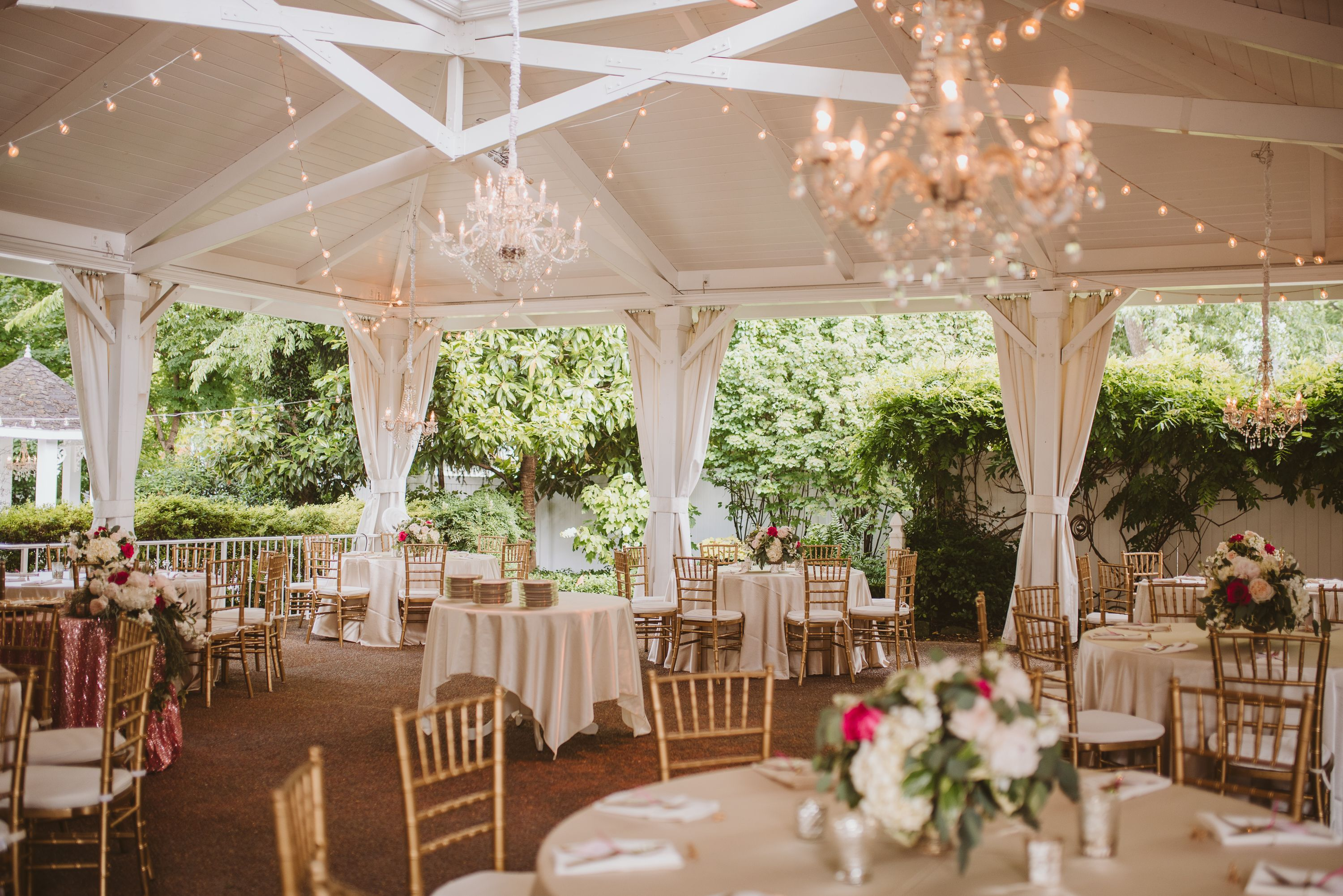 Sparkly Sweet Glamour In The Garden Tennessee Wedding Venues