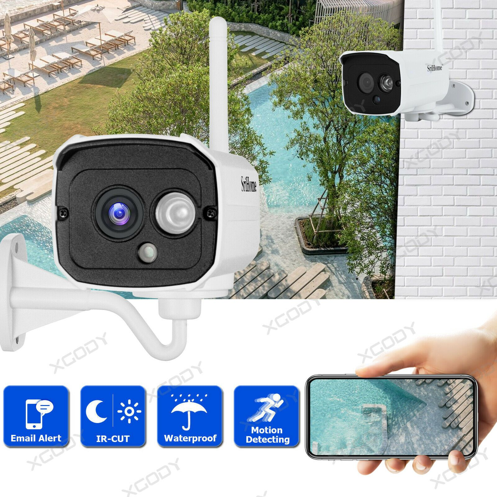 Wireless WiFi IP Kamera Überwachungskamera Webcam Wlan Funk Camera Nachtsicht DE