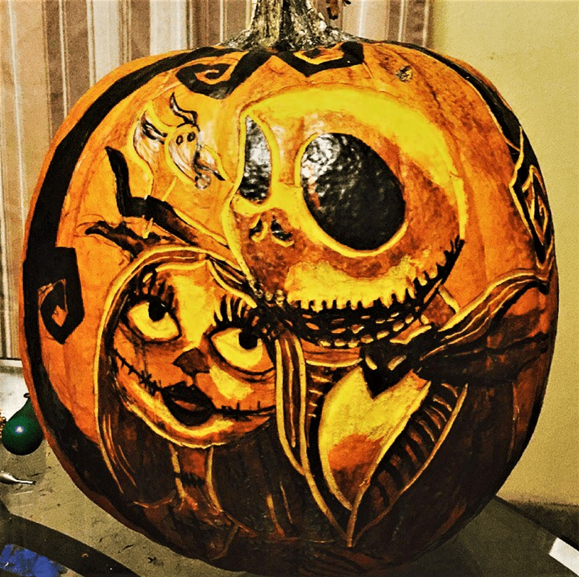 Jack Skellington Pumpkin Carving Creative pumpkin