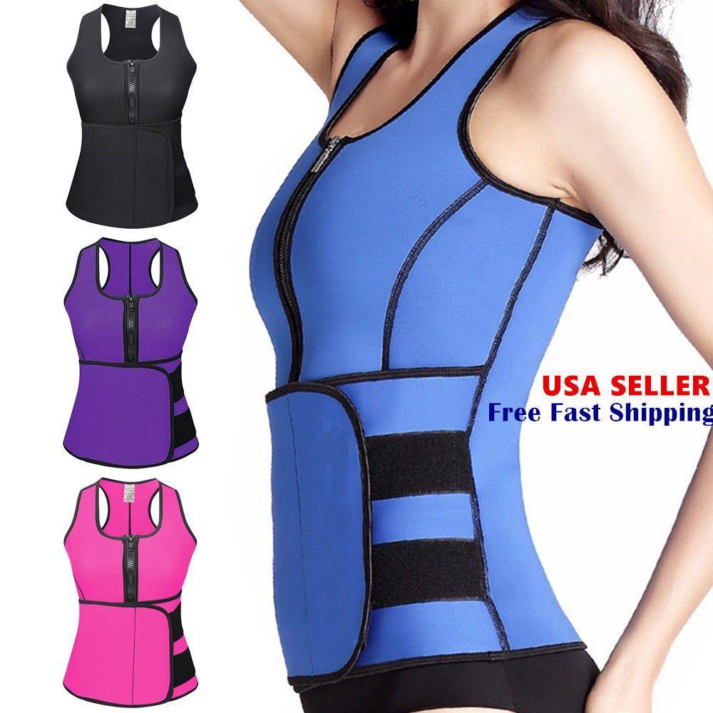 Neoprene Waist Trainer Thermo Sweat Sauna Body Shaper Women Slimming Vest Corset