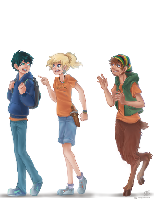 Percy Jackson and Annabeth Chase and Grover Underwood