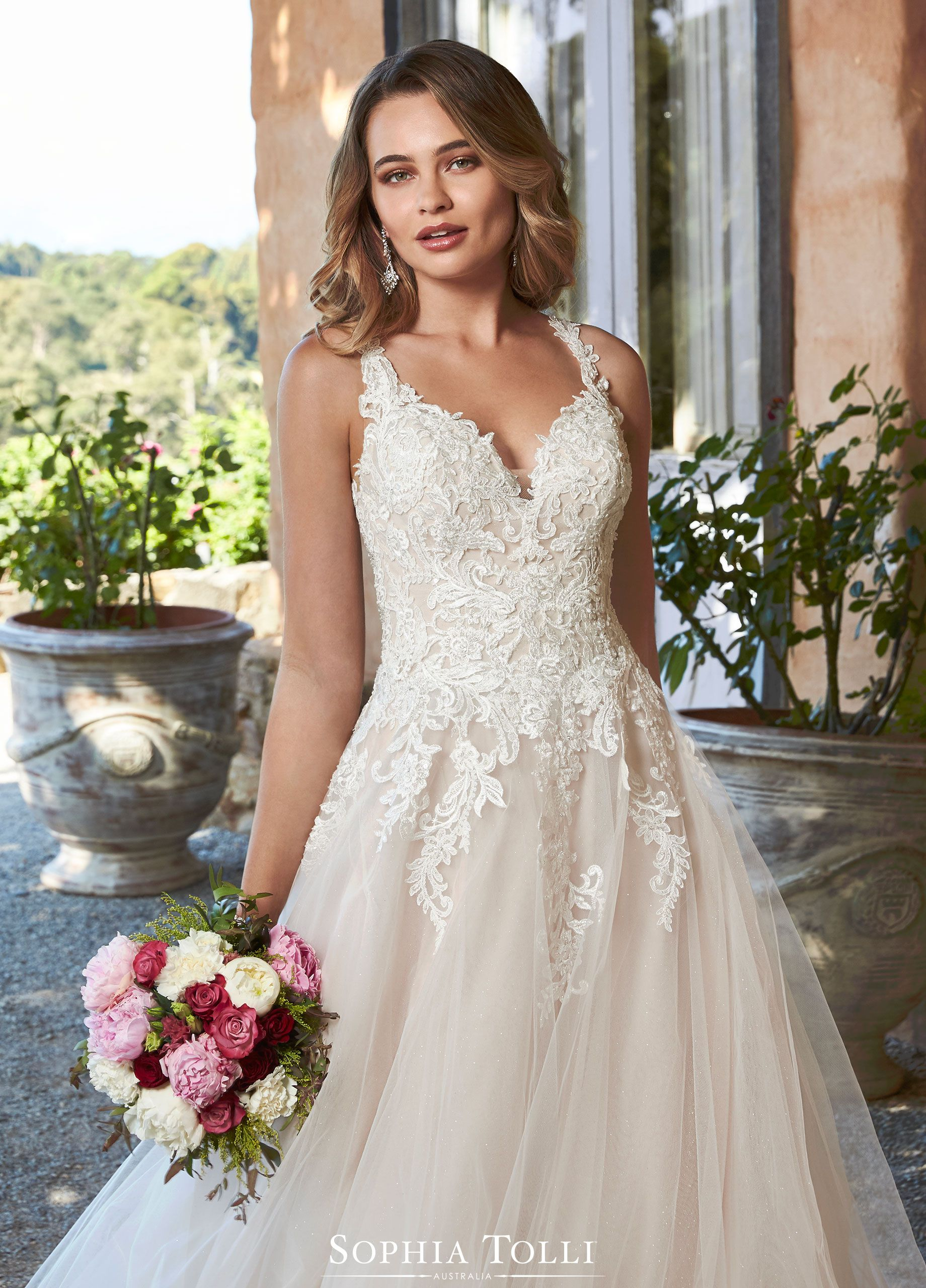 Sophia Tolli Wedding Gowns Y21977a Stephanie In 2020 Dream