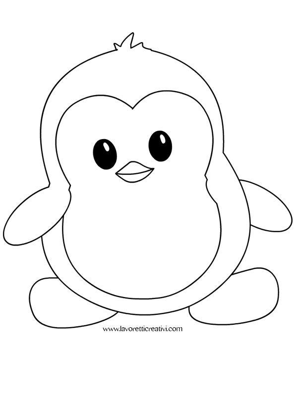 Pinguino Pinguini Disegni Da Colorare E Disegno Per Bambini