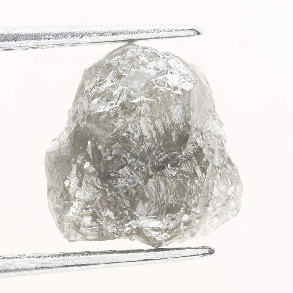 1.54 Ct Outstanding Natural Silver Gray Rough Diamond For Jewelry africa loose