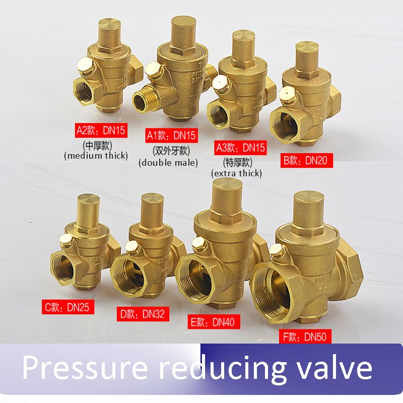 1 2 3 4 1 11 4 11 5 Thick All Copper Pressure Reducing Valve For Household Water Supply Water Pipes Hot Water Water Pipes Water Purifier Water Supply