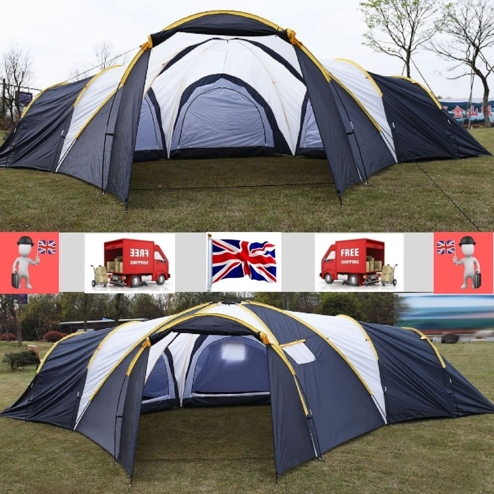 Surprising Outdoor Camping Hiking Large Tent 6 9 Person 3 1 Room Download Free Architecture Designs Rallybritishbridgeorg