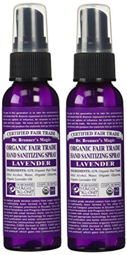 Dr Bronner S Magic Soaps Lavender Hand Sanitizer 2 Pack 2 Ounces