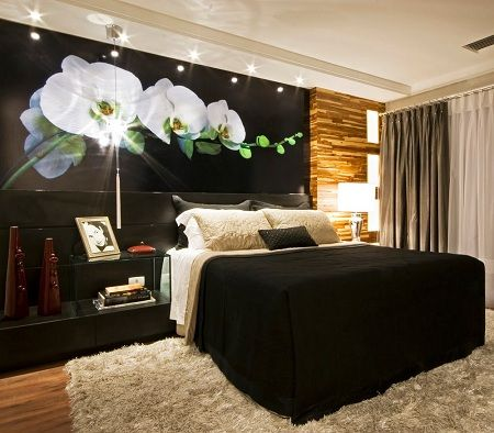 Noir blanc chambre déco Bedroom Pinterest Bedrooms
