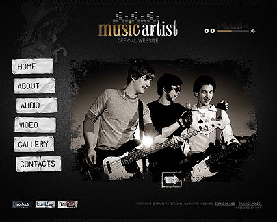 Music website templates – fast and simple embodiment of your music ...
