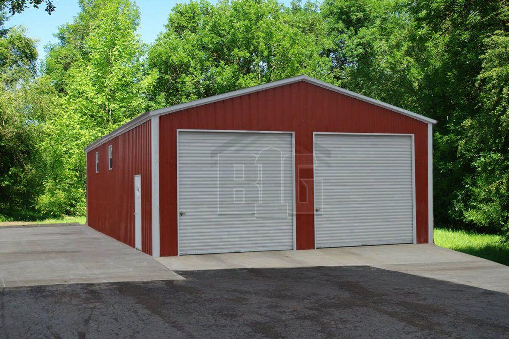 Best Vertical Roof Metal Garage Hendrix 28X35X13 Metal 400 x 300